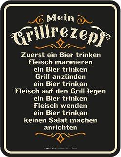 Grillen gute Idee 3858 Werbeschild RAHMENLOS® Art Blechschild 17 x 22 cm