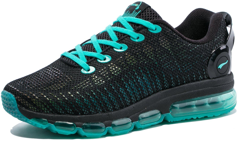 ONEMIX Hombre Zapatillas de Running Fitness Casual Zapatos 44 EU|Negro/Verde