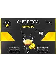 Café Royal Espresso - 33 Capsules Compatibles avec le Système Nespresso®*