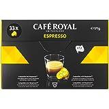 [訳あり(賞味期限 2019年8月31日)] CAFÉ ROYAL ネスプレッソマシン用互換カプセル エスプレッソ 33カプセル入り×4箱