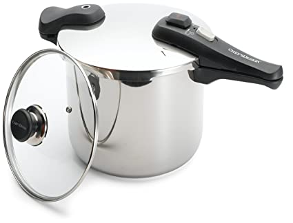 Image Unavailable Not Available For Color Chefs Design 10 7 8 Quart Stainless Steel Pressure Cooker