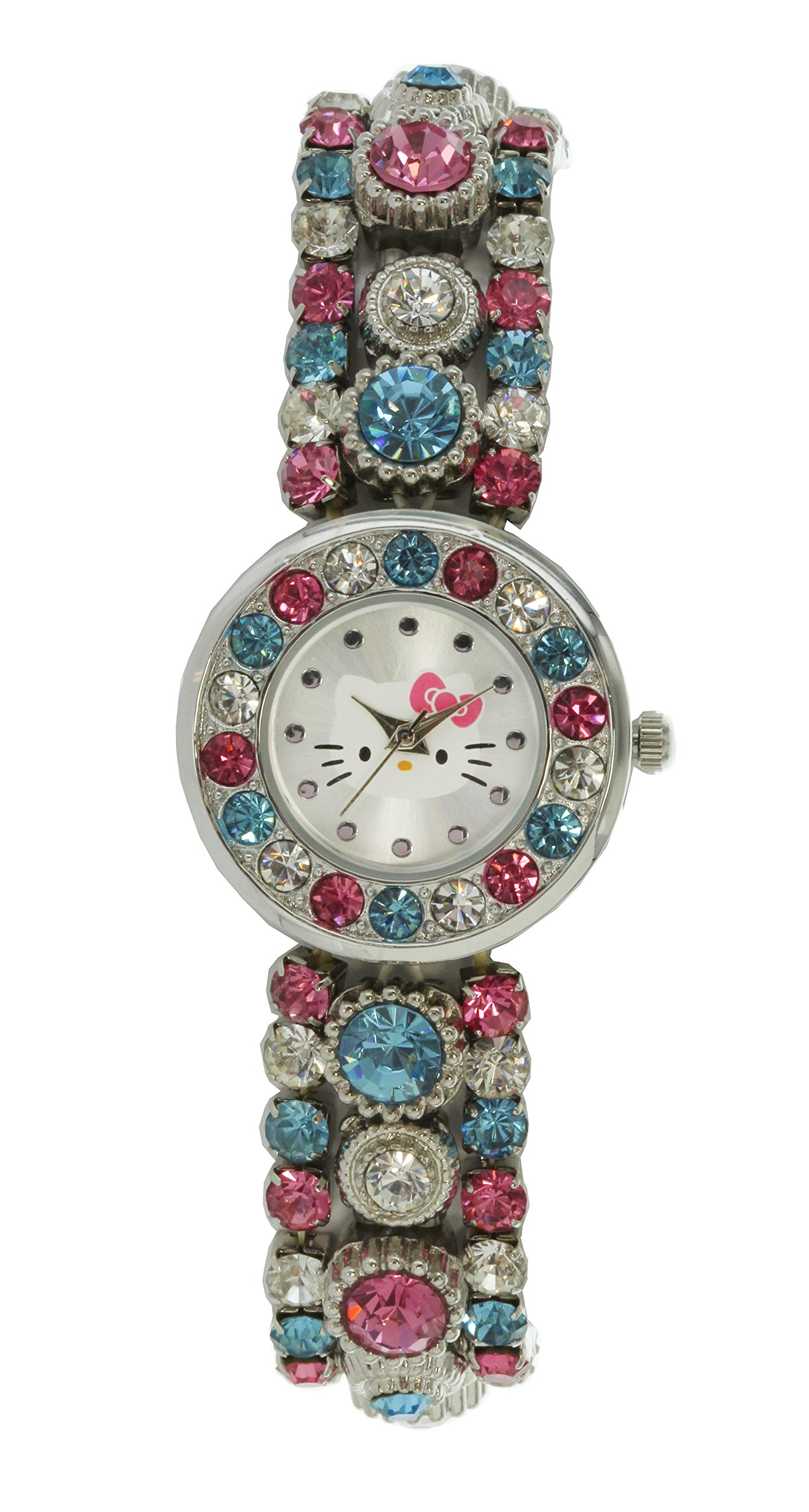 Hello Kitty Silverstone Multi Full Stone Stretch Band Watch HK2059