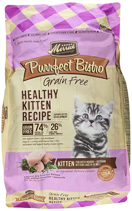 Merrick Purrfect Bistro Saludable Receta de Gatito Gato seco Alimentos, 7 LB.