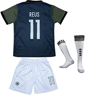 FCW 2018 Germany Home #11 Marco REUS Football Futbol Soccer Kids Jersey Shorts Socks Set