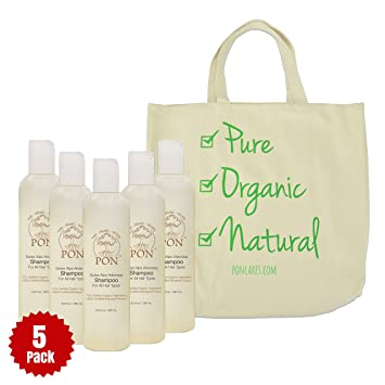 Amazon com: PON - Pure Organic Natural - Aloe Vera Based Shampoo for