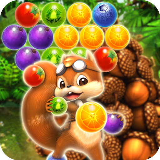 Pop The Fruit 2 : Puzzle Candy Bubble (Acorn to Catch) - from Panda Tap Mania Studios (Bubble Mania 2)