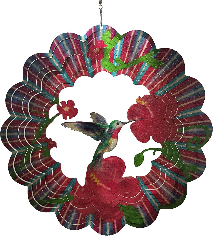 Brands Wind Spinner 360 Degree Hanging Stainless Steel Hummingbird Indoor Outdoor Garden Decoration