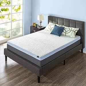 ZINUS 13 Inch Green Tea Pressure Relief Gel Memory Foam Mattress/Cooling Mattress/Zoned Airflow Design/Bed-in-a-Box, Full