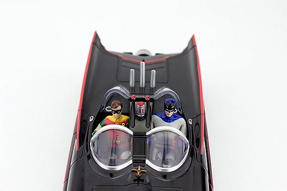NJ Croce Batmóvil de 1966 Miniatura con Figuras Flexibles de Batman y Robin