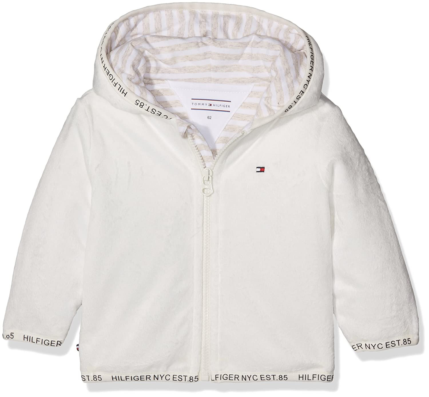 Tommy Hilfiger Fluffy Baby Outdoor Jacket Hoodie White (Marshmallow 124) 80 KN0KN00764