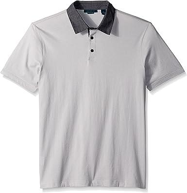 Perry Ellis Hombres 4BFK9025 Manga Corta Camisa Polo - Gris ...