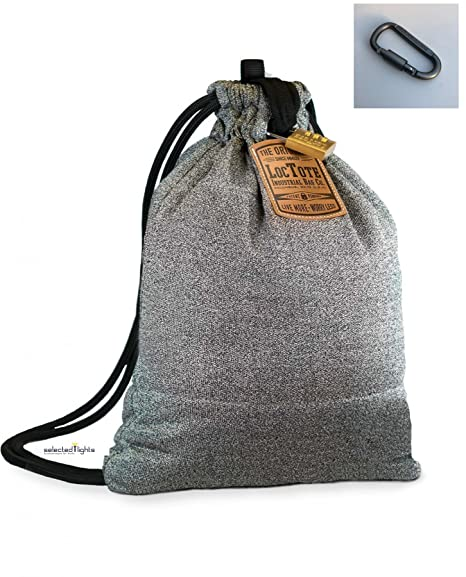 loctote Flak sak Bag - die schnittfeste Diebstahl Schutz Tasche mit Extra Karabiner