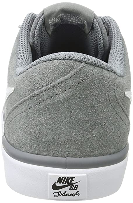 Amazon.com | NIKE Mens SB Check Solarsoft Skate Shoe Cool Grey/White 11.5 D(M) US | Skateboarding