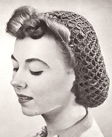 Amazon Vintage Crochet Pattern To Make Snood Hairnet Hair Net