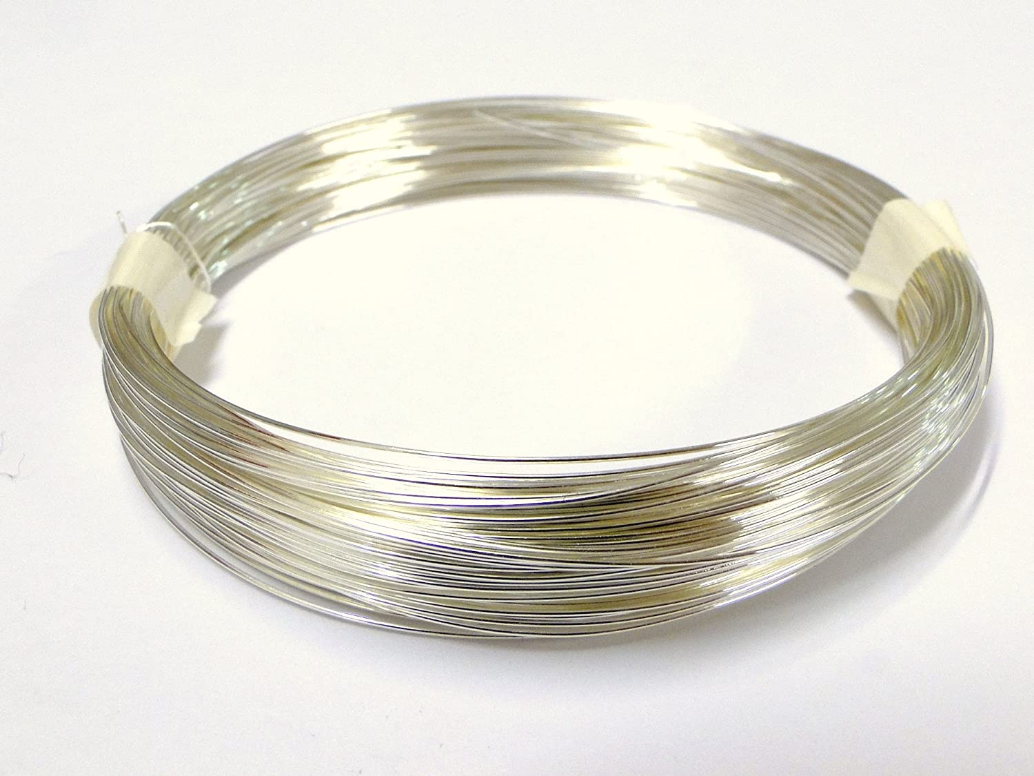 1 Spool Silver 0.8mm x 6 Meters Jewellery Craft Beading Wire Tiara Wrap Memory Copper Brass Metal Findings Habercrafts