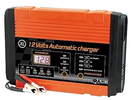 XL Perform Tool 553983 Cargador Automático XL. 12V.10 A 95Ah, 12V-10 à 95 Ah