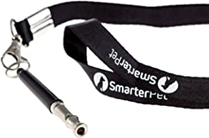 Smarter Pet Premium Dog Whistle to Stop Barking with Lanyard and Anti-loss Cover | Safest Pet Training, Obedience, and Repellent Aid | Easy to Use | 100%