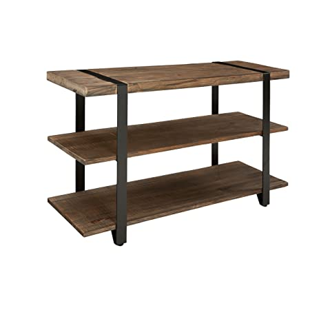 Stowe 42 L Reclaimed Wood Rectangle Coffee Table with Open Bottom Shelf, Natural Finish