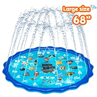 Obuby Sprinkle & Splash Play Mat, Sprinkler for Kids,Upgraded 68' Summer Outdoor...