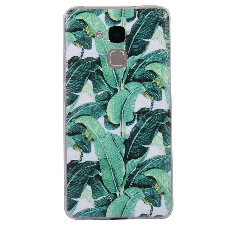 Pour Huawei Honor 5C Case Cover, Ecoway TPU Soft Silicone motifs peints Housse en silicone Housse de protection Housse pour té lé phone portable pour Huawei Honor 5C - Panda Eafior
