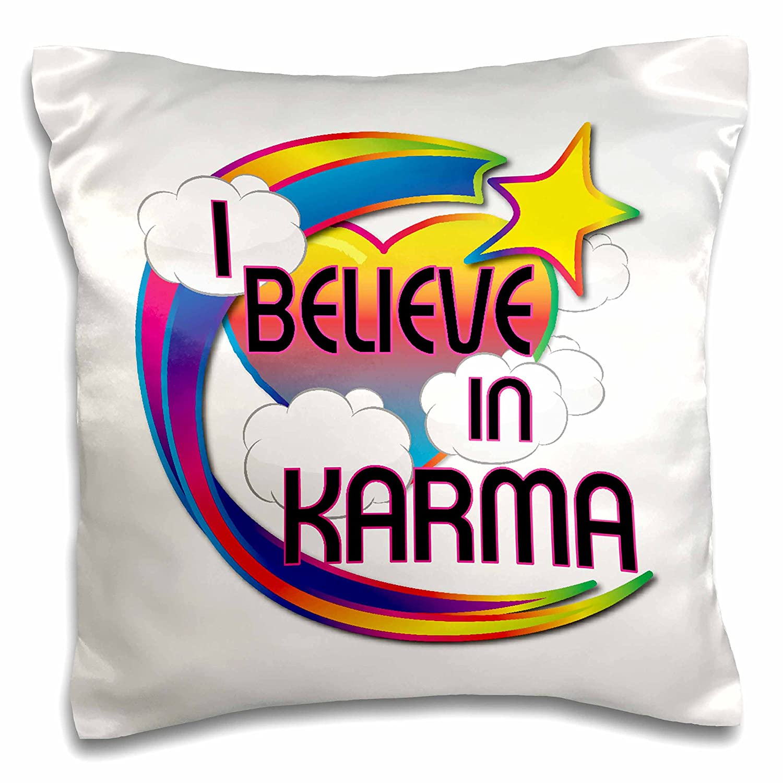 3D Rose I Karma Cute Believer Design Pillowcase 16 x 16 3dRose ...