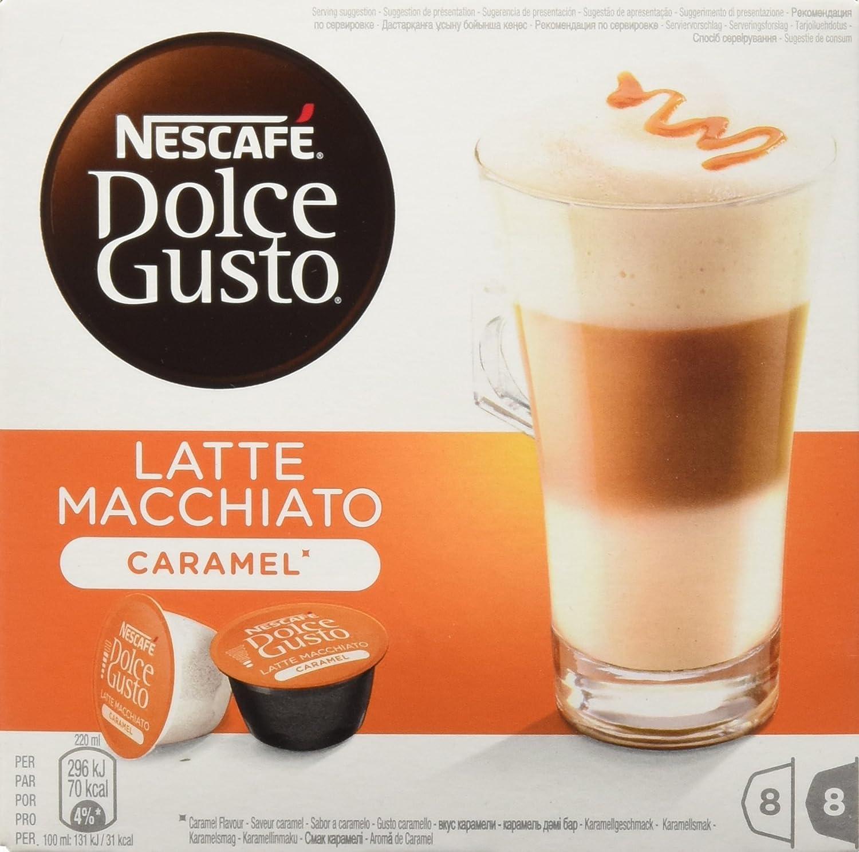Nescafé Dolce Gusto - Latte Macchiato Caramel - Cápsulas de Café - 16 Cápsulas: Amazon.es: Alimentación y bebidas