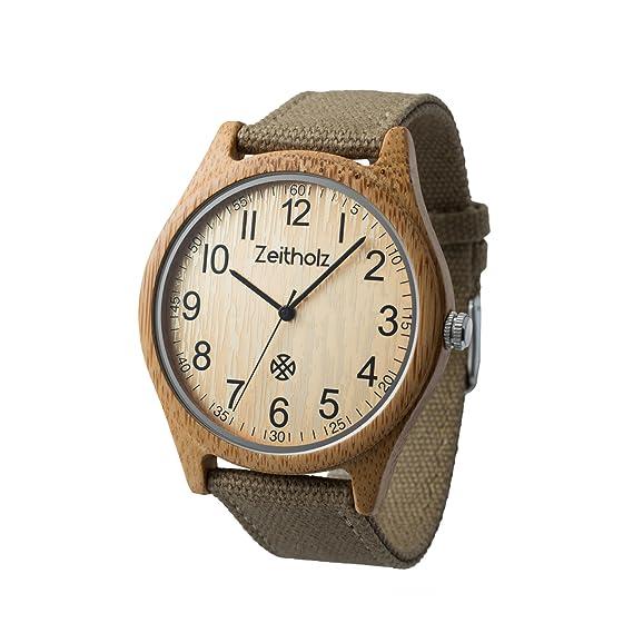 Reloj de Madera ZEITHOLZ – Altenberg - 100% de Madera de Bambú - Producto Natural