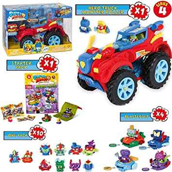 SuperZings Serie 4 – Hero Truck Monster Roller y Pack Sorpresa con ...