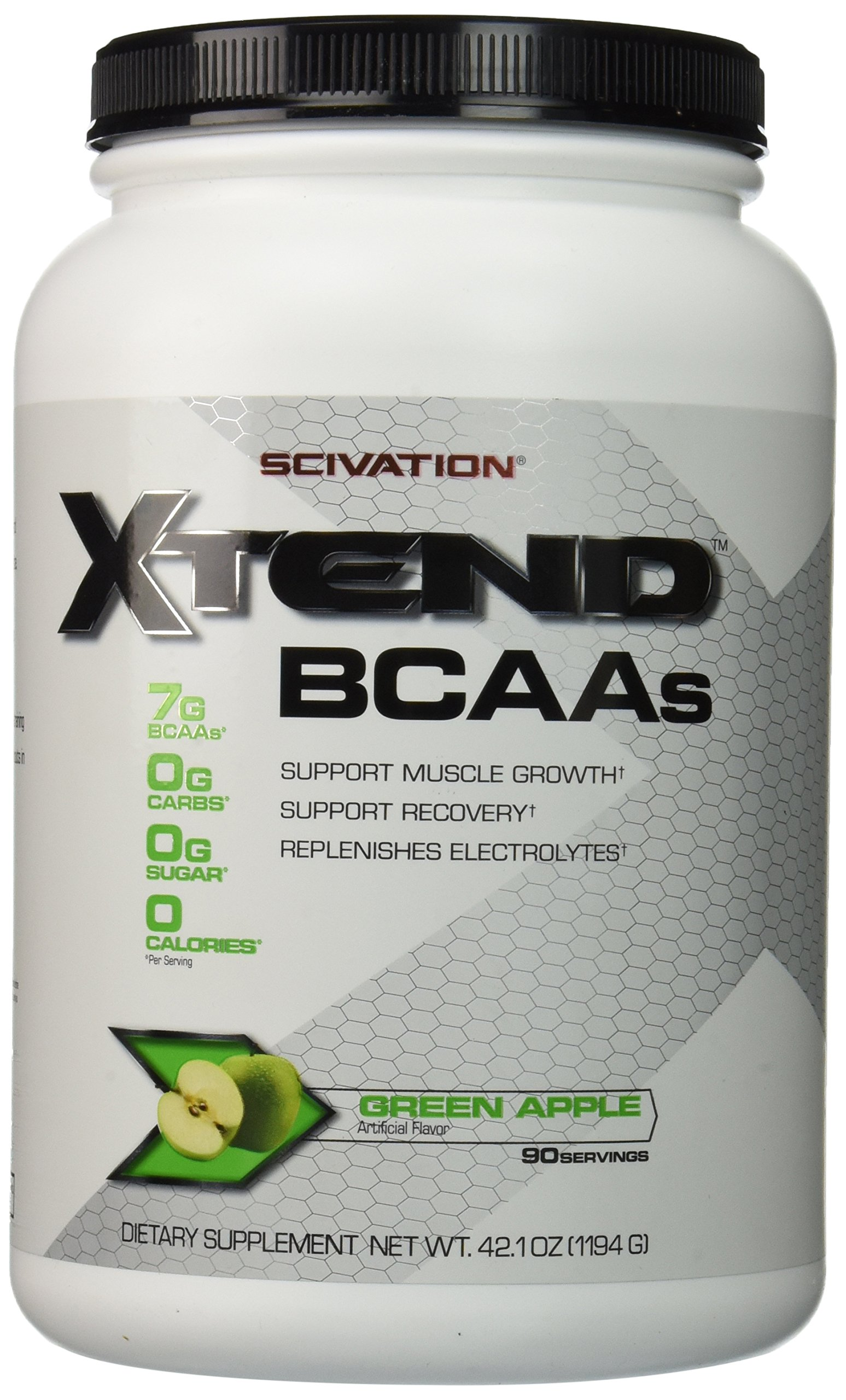 Scivation XTEND, Green Apple Explosion 90 Servings(42.1 oz)