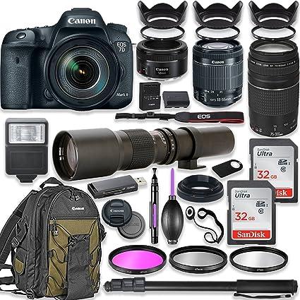 Amazon com : Canon EOS 7D Mark II DSLR Camera with 18-55mm