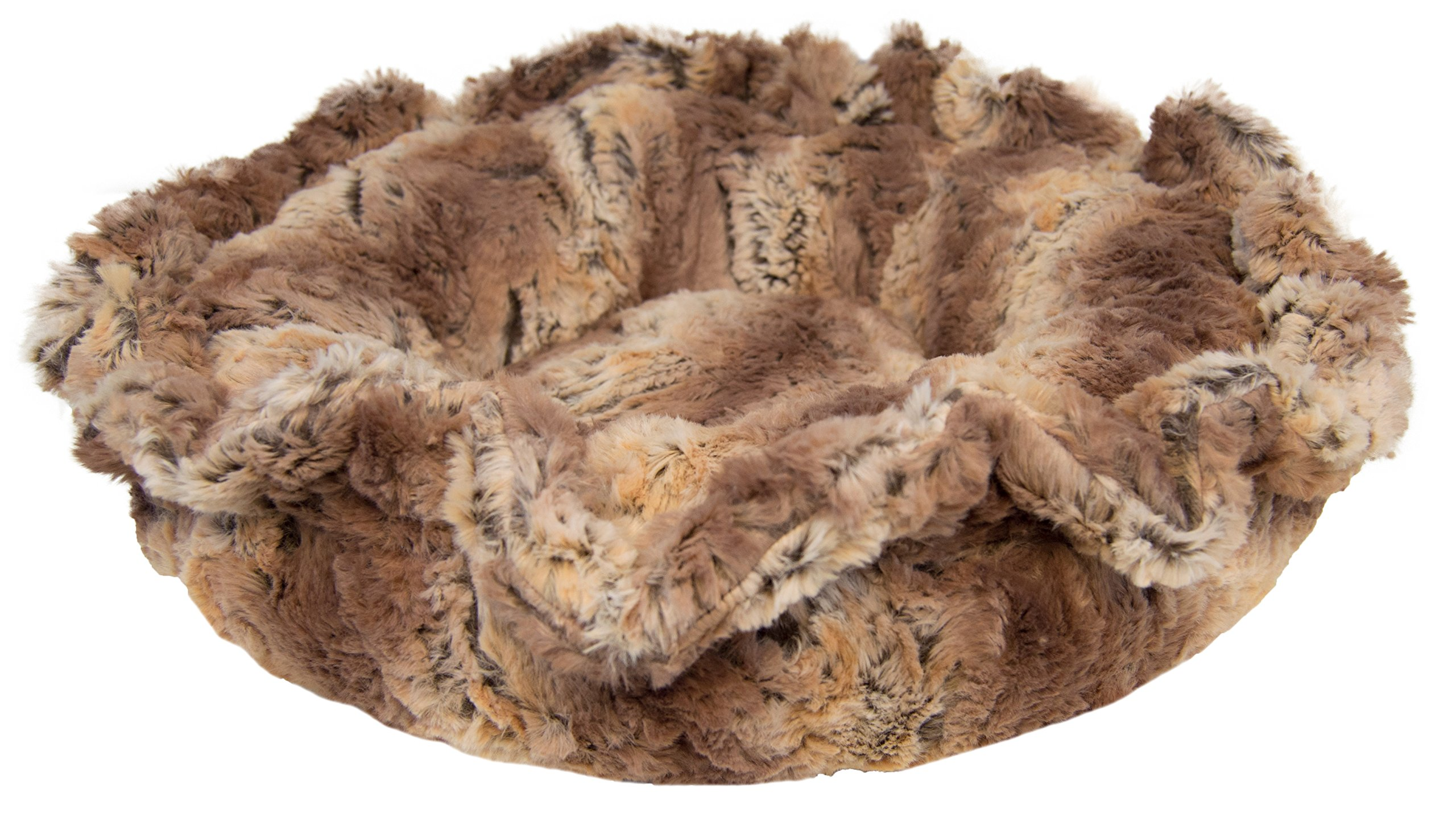 BESSIE AND BARNIE Ultra Plush Simba Luxury Deluxe Dog/Pet Lily Pod Bed