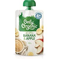 Only Organic Banana & Apple  4+ Months - 120g