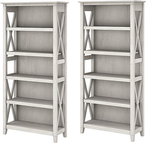 Bush Furniture Key West 5 Shelf Bookcase Set