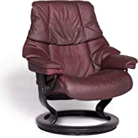 Stressless Reno M Designer Leather Armchair Red Genuine Leather Chair Relax