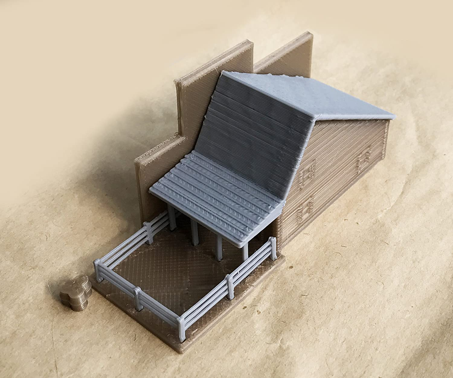 outland models Train Railway Layout Old West Livery Stable N Gauge 1:160