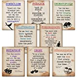 ECHO-LIT, LLC Literary Terms Mini Quote Poster Set Featuring Alliteration, Foreshadowing, Irony, Metaphor, Onomatopoeia, Paradox, Personification and Symbolism. Educational Art Prints