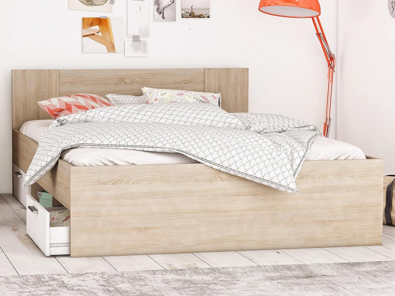 Bett Kompaktbett Bettrahmen Doppelbett Bettgestell Schlafzimmermöbel