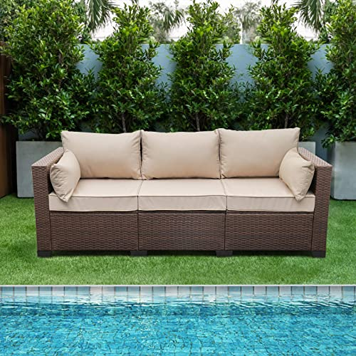 Patio PE Wicker Couch