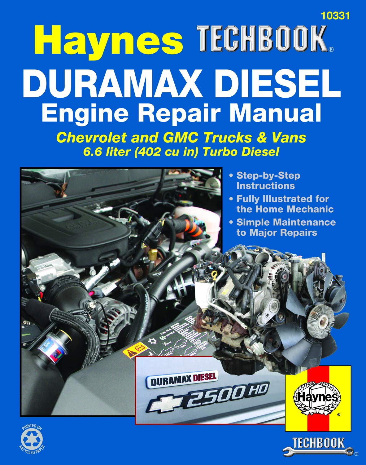 duramax diesel engine repair manual: chrevrolet and gmc trucks & vans 6 6  liter (402 cu in) turbo diesel paperback – oct 15 2013