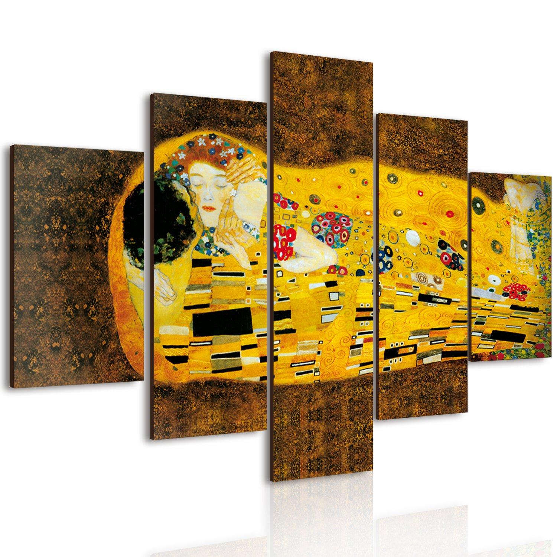 Lupia 5-Piece Vogue Canvas Print on Wood, Klimt's Kiss, 66x 115cm Klimt's Kiss Lupia s.r.l. 8016123060151