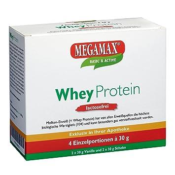MEGAMAX - Whey Protein - Kit para principiantes - Bebida a partir de suero de leche - Sin lactosa: Amazon.es: Deportes y aire libre