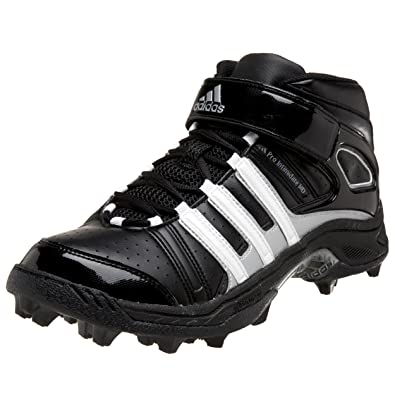 best cheap 027e3 1cc08 adidas Mens Pro Intimidate 2 Md Football Cleat,BlackWhiteSilver,10.5
