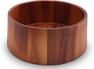 Arthur Court Acacia Wood Serving Bowl for Fruits or Salads Tulip Shape Style Large 12 inch Diameter x 4.5 inch Tall