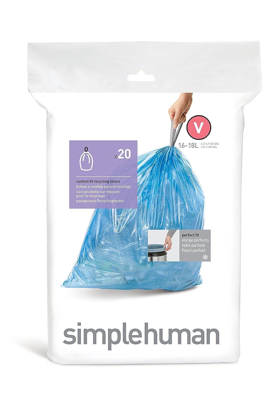 simplehuman Rectangular Recycler, 46 L - Fingerprint-Proof Stainless ...