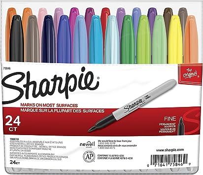 Sharpie Fine punto marcatori permanenti 24/Pkg-scrittura colori: Amazon.es: Juguetes y juegos