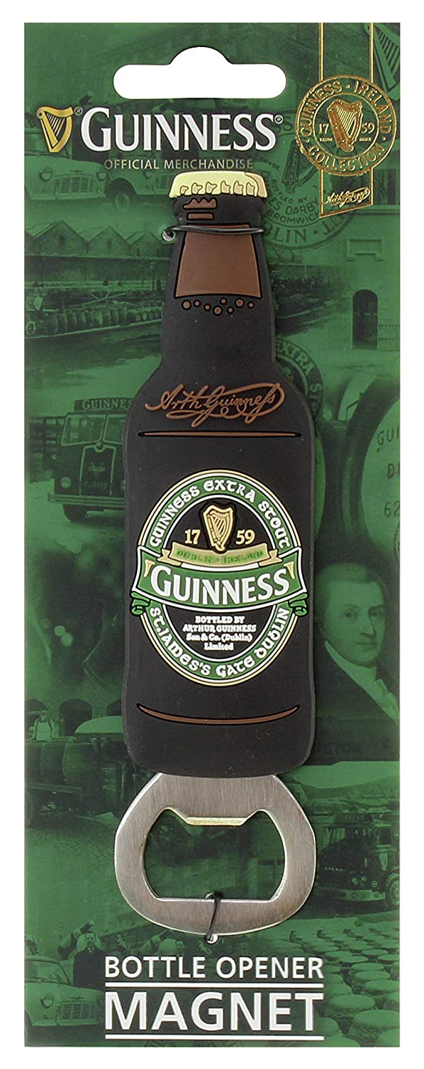 Guinness Ireland Collection PVC Bottle Opener Magnet with St James Gate Design
