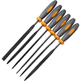 Needle File Set|6 Piece| Hardened Steel Alloy, Secure Grip| For Jewelry, Metal, Plastic, Wood & DIY Projects| Mini Set…