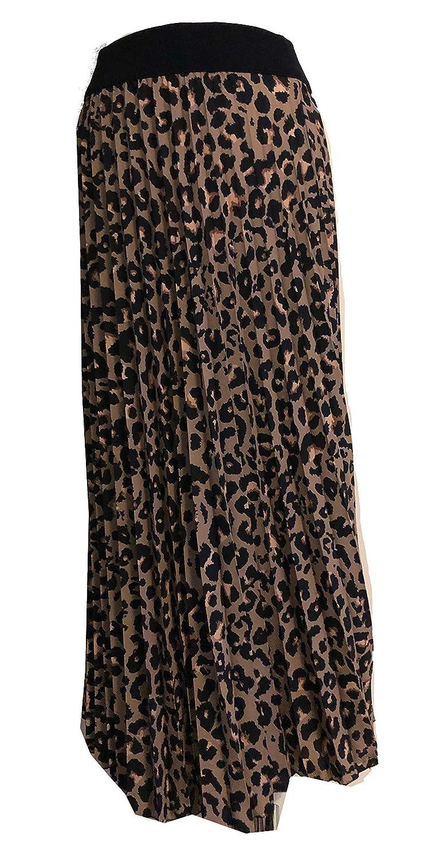 - Made in Italy A95 LV CLOTHING Gonna a Pieghe da Donna Leopardata con Elastico in Vita Maxi Lunghezza Ideale per Tutti i Giorni Casual Vacanza Estate Pamper Yourself Now ltd
