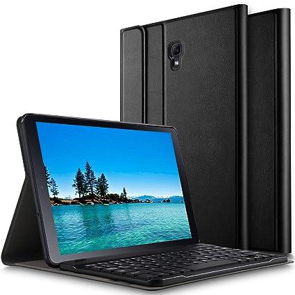 ELTD Tastatur Hülle für Samsung Galaxy Tab A 10.5 SM-T590/T595 [Deutsches QWERTZ-Layout],Ständer hülle mit Abnehmbar Kabellos