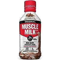 Muscle Milk Original Protein Shake, Chocolate, 34g Protein, 17 FL OZ (Pack of 12)